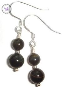 Blue Tiger Eye Earrings